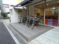 自転車置き場ウッドデッキ_AFTER